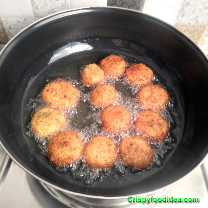 Fry well and continue up to the pakora balls become golden brown